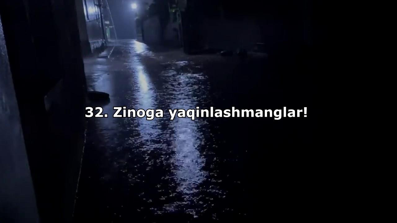 Zinoga yaqinlashmanglar! #Isro surasi (32-oyat) - Isa Barahoev