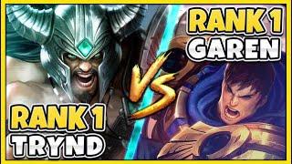 #1 TRYNDAMERE WORLD VS. #1 GAREN WORLD (ONE-TRICK GOD WARS) - League of Legends