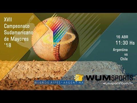 Béisbol Sudamericano Mayores '18: Argentina vs Chile