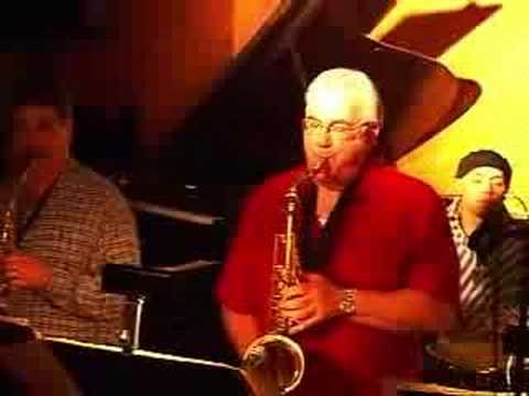 "The Dalton Gang performs Billy Joel's ""NY State Of Mind"" in 2006 at Trumpets, in Montclair. The soloists are Mark Friedman, alto, and Vinnie Cutro, trumpet."