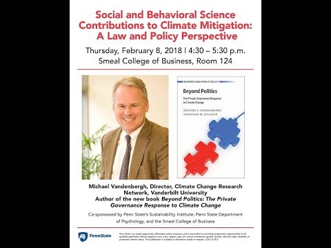 Michael Vandenbergh - Social and Behavioral Science Contributions