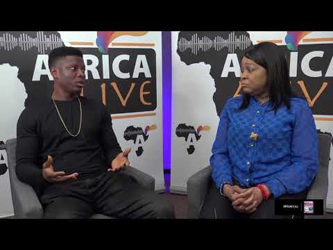 Nollywood Actor Rotimi Salami on Africa Alive with Presenter Veteran Actress Golda John Abiola