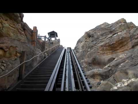 Big Grizzly Mountain Runaway Mine Cars POV HD frontseat