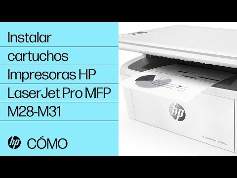Instalar cartuchos | Impresoras HP LaserJet Pro MFP M28-M31 | HP
