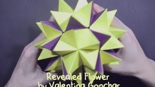 Kusudama Revealed Flower by Valentina Gonchar (part 1 of 2)  - Yakomoga Origami tutorial