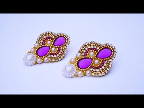 How To Make  Designer Earrings | Paper Earrings | Jewellery Making|DIY+earring(earring)diaries