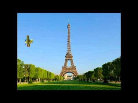 Have A Nice Day! SGT. Hawk and Snoopy flying around the Eiffel tower - 3ds animation