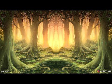Komorebi Digital Painting / Photoshop Tutorial Timelapse / Forest Painting Symmetry Concept Art 2020