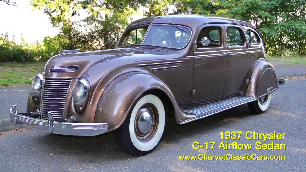 1937 Chrysler Airflow For Sale. Charvet Classic Cars - YouTube