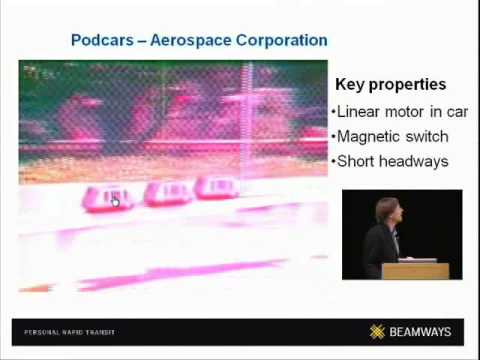 Podcars: Using networking ideas to transport people.