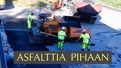 Asfalttipiha: pohjatyöt, reunakivet ja asfaltin levitys