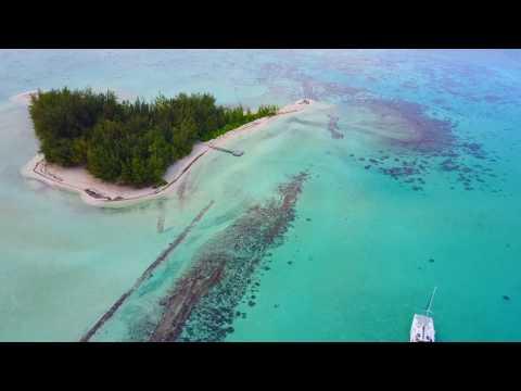 Catamaran cruising in Bora Bora had to get a MAVIC PRO from DJI dream yacht charters