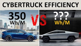 Tesla Cybertruck Efficiency VS Model X - Calculating the Wh/Mile and Battery Size of the Cybertruck