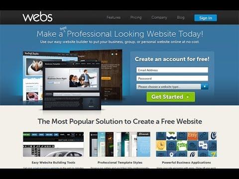 انشاء موقع مجاني أحترافي لعرض معلوماتك به Webs