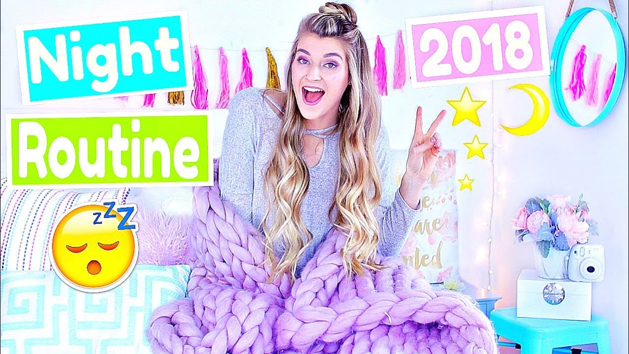MY NIGHT ROUTINE 2018! Katie Betzing - YouTube
