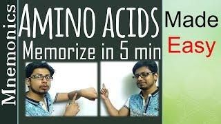 Memorize amino acids | amino acid easy tricks to remember