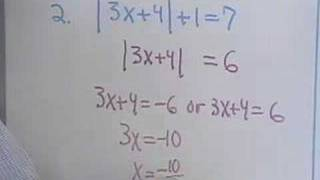 Algebra - Equations with Absolute Values - Ch. 2.5