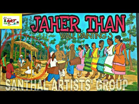 JAHER THAN | SANTHAL ARTISTS' GROUP | WALL PAINTING 3 | Large wall art | সানতাড় আর্টিস্ট গ্রুপ