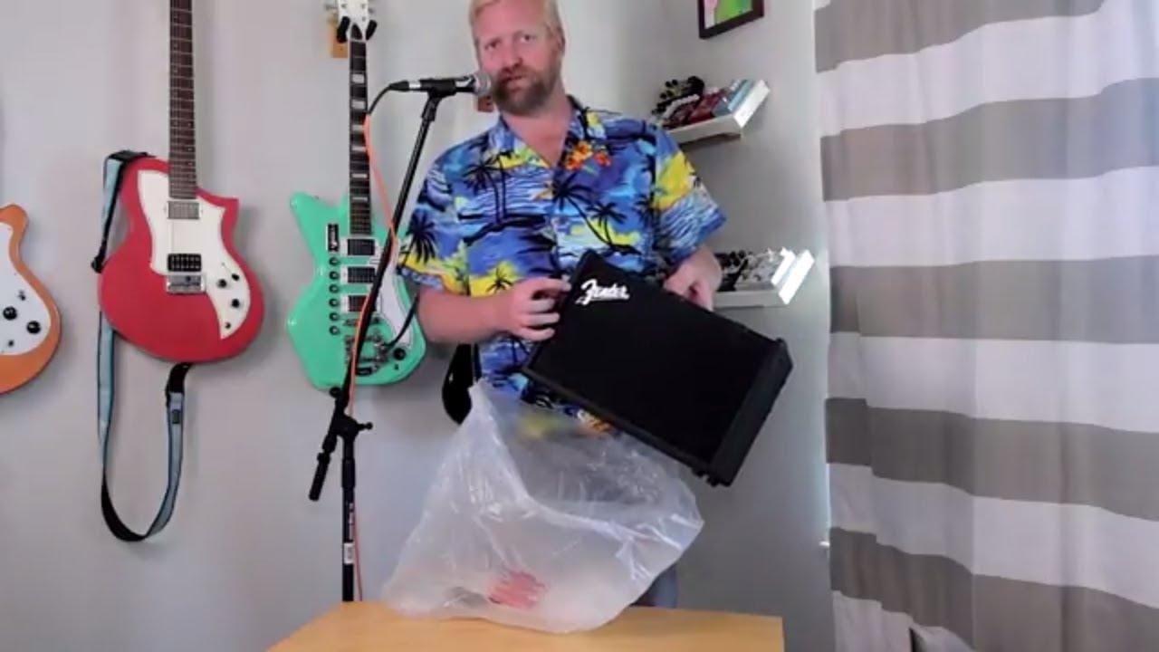 fender mustang gt40 - reboxing - youtube