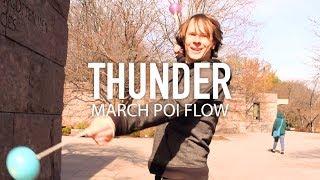 Poi Dancing: IMAGINE DRAGONS - Thunder | Choreography by Drex