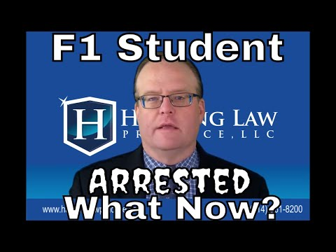 When an F1 student gets arrested