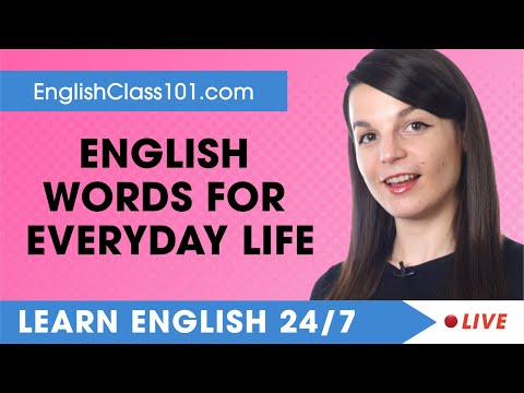 Learn English Live 24/7 🔴 English Words and Expressions for Everyday Life  ✔