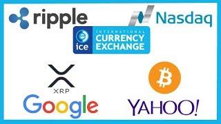 Ripple, NASDAQ & ICE invited by U.S. Congressman for ICO Regulation - Google = Ripple / Yahoo = BTC