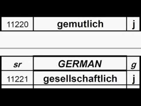 SR German meaning dictionary, Words from 10000 to 13576, (Meaning in links below)