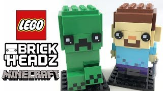 LEGO Minecraft BrickHeadz review! 2018 set 41612!