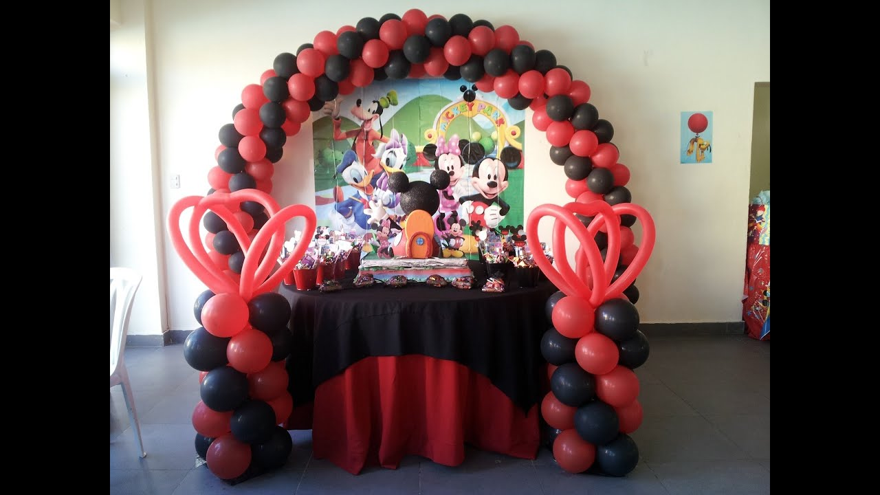 Decoracion cumplea os mickey mouse youtube - Ideas decoracion cumpleanos ...