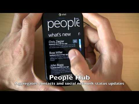 AT&T Samsung Focus Windows Phone 7 software review and tour - Super AMOLED and WP7