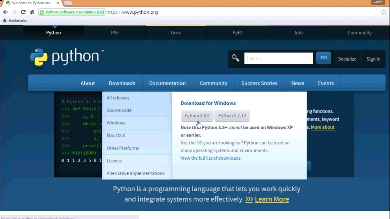 how to download and install python and pygame? - YouTube