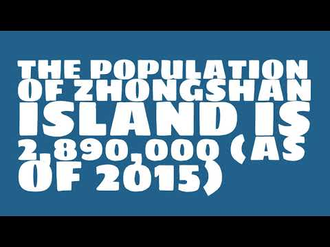 What is the population of Zhongshan Island?