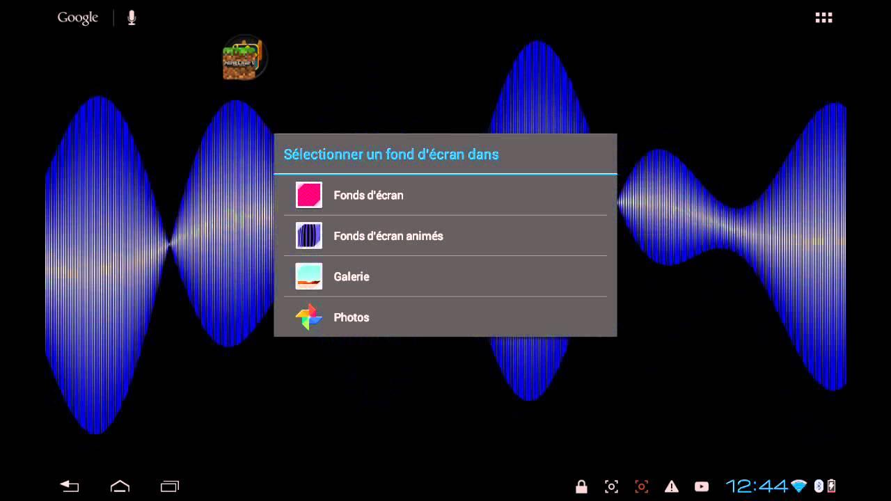 Comment changer le fond d'écran de sa tablette - YouTube