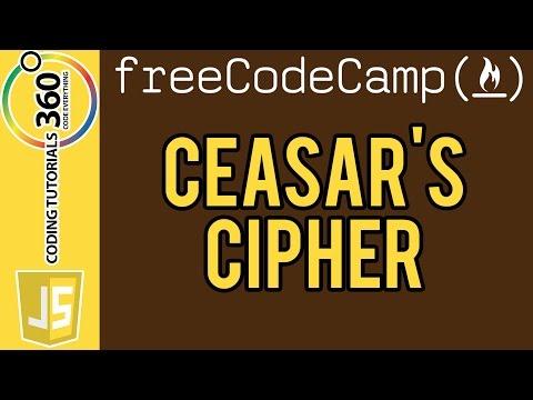 Caesars Cipher:  Basic Algorithm Scripting Free Code Camp