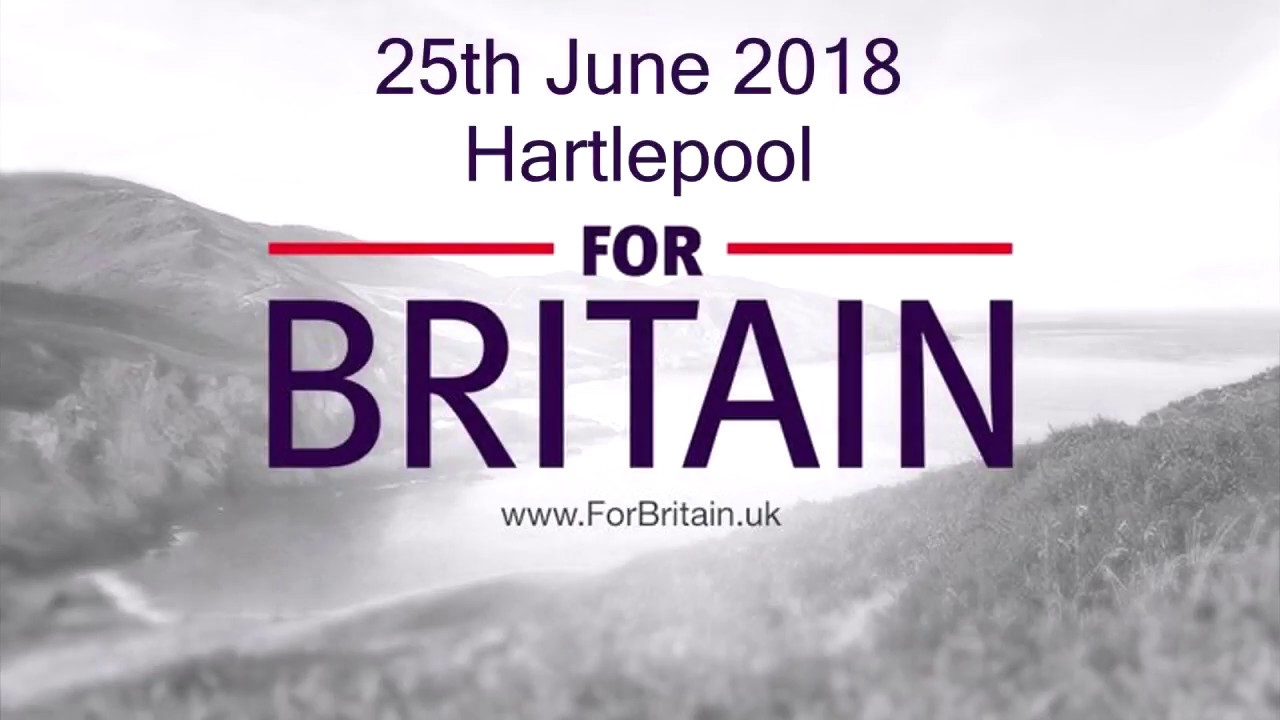 For Britain Anne Marie Waters Hartlepool 25Th June 2018