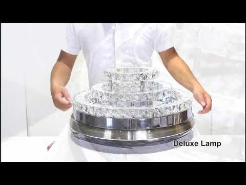 How To Assemble Install  Invisible Retractable Blades Crystal Chandelier Ceiling Fans 3