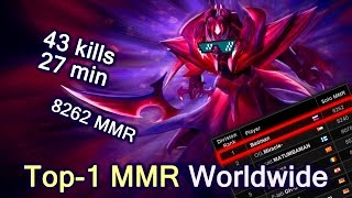 Top-1 MMR in the World Spectre with 43 kills in 27 min game — Dota 2