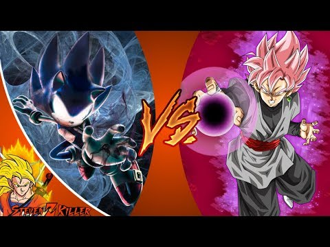 DARK SONIC vs GOKU BLACK! (Sonic X VS Dragon Ball Super) _ REWIND RUMBLE! REACTION!!!