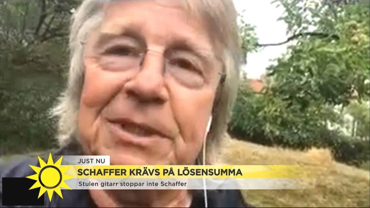 Janne Schaffers gitarrer blev strulna – nu utpressas han av brottslingarna - Nyhetsmorgon (TV4)