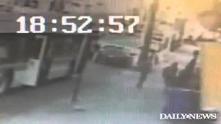 Surveillance captures Brooklyn bus shooting of innocent bystander