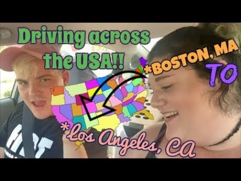 DRIVING ACROSS THE COUNTRY?! A vlog from Boston, MA to Los A