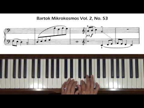 Bartok Mikrokosmos Vol. 2, No. 53 Piano Tutorial