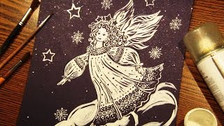 Speed Painting | Christmas Angel | Gouache | IOTN