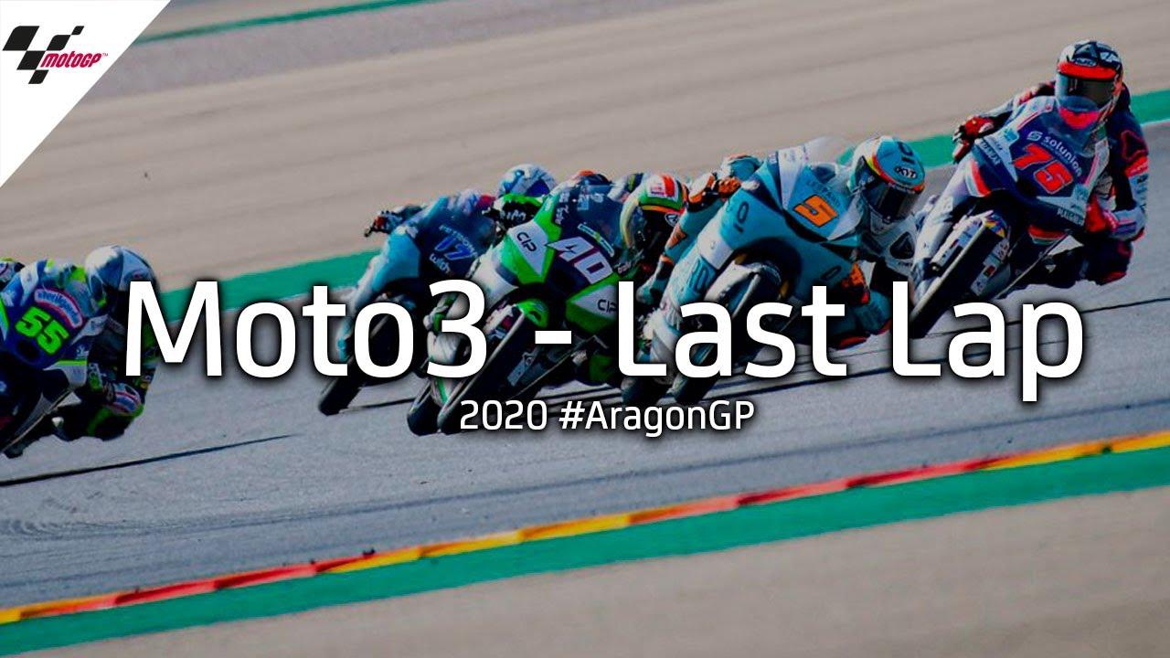 Last lap battle in Moto3 |2020 #AragonGP