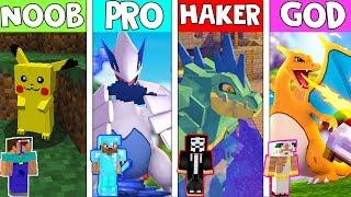 Minecraft - NOOB vs PRO vs HACKER vs GOD : POKEMON in MINECRAFT (Animation) POKEMON IN MINECRAFT