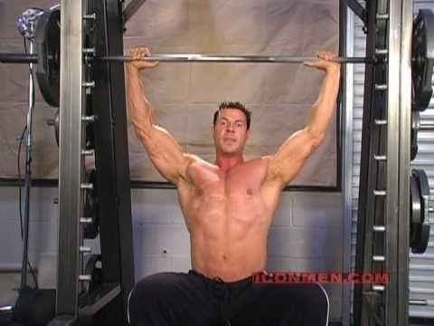 Christian Boeving – Military Press on Smith Machine (Bodybuilding)