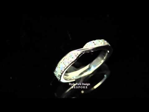 Shaped Diamond Wedding Ring - Custom Made in London