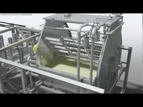 Industrial 3D Animation Food Industry Machine (Filling Process Automation) Technical 3D CAD