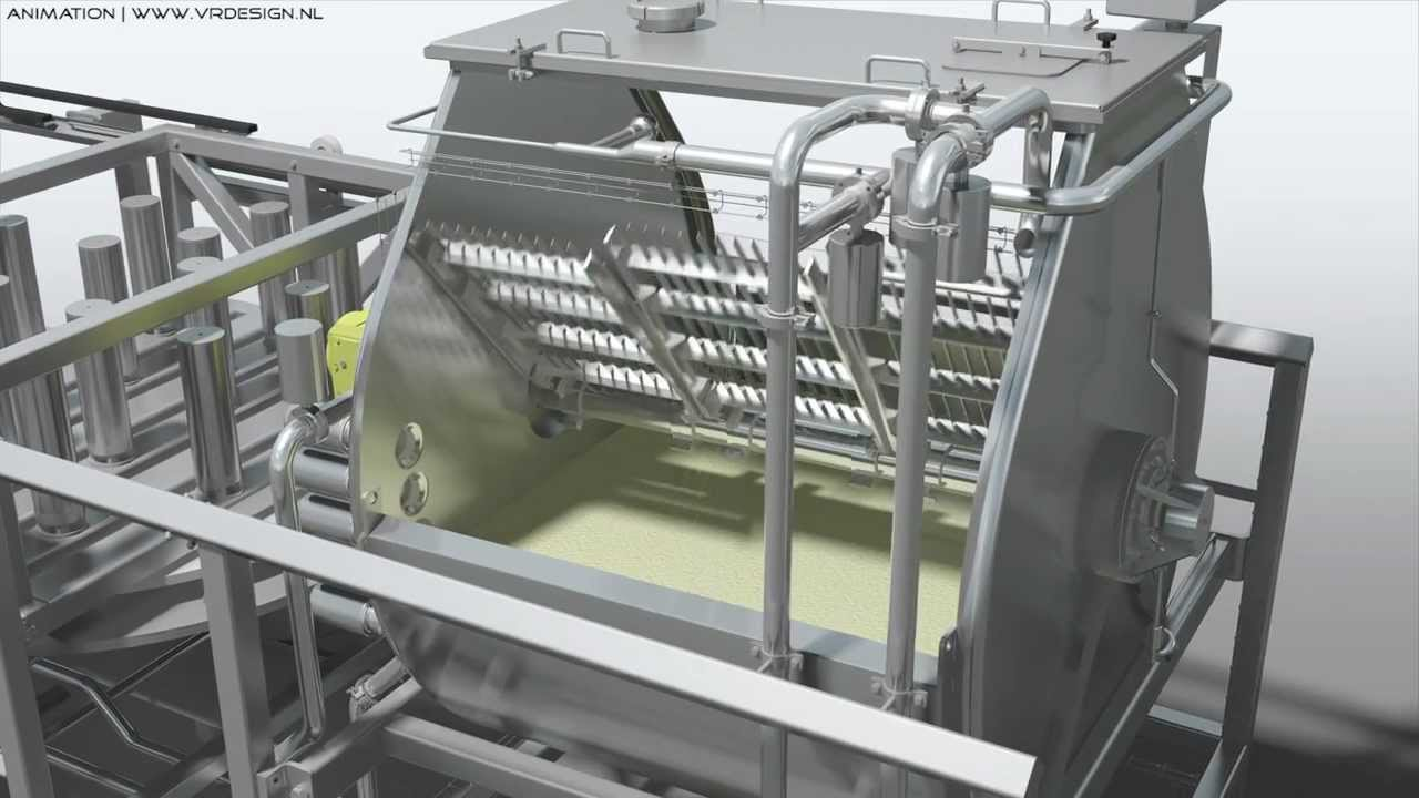 Industrial 3d Animation Food Industry Machine Filling